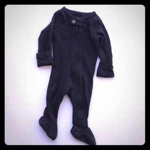 L'oved baby footed zipper overall premise/NB used